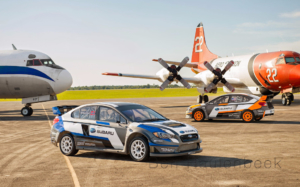 Subaru Rally Team USA Rallycross Airport