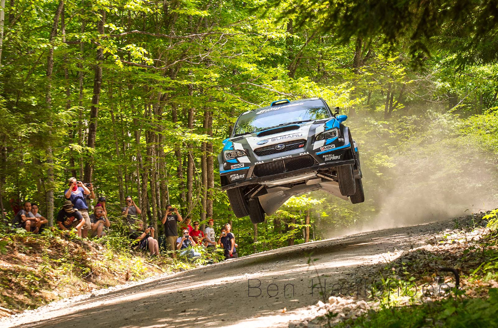 David Higgins  SRTUSA #75 Subaru Rally Team USA, Rally America, NEFR New England Forest Rally Jump